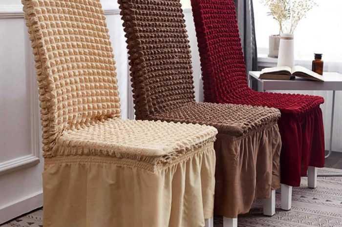 Как сшить чехол на стул своими руками: подбор материалов с инструментами. Фото/видео инструкция по сборке и декору красивых моделей