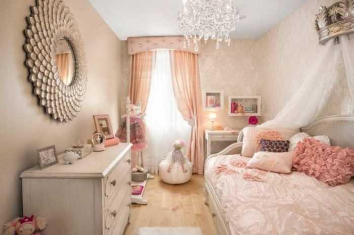 Детская комната для девочки: особенности обустройства интерьера, расстановки мебели. Сочетание ковров, штор и аксессуаров