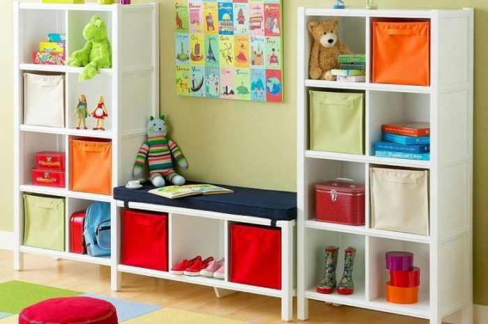 Как сделать полки в детскую комнату: отличительные особенности, способы создания, фото примеры различных цветовых оттенков и форм