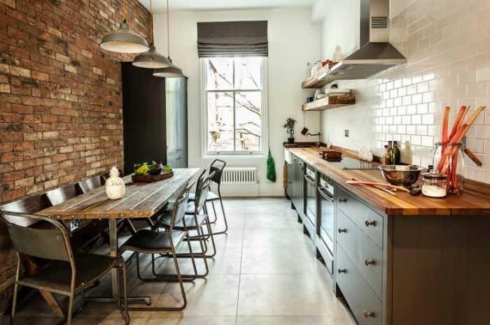 Оригинальная кирпичная кухня: современные идеи стильных решений, описание видов и отделки и применяемых материалов