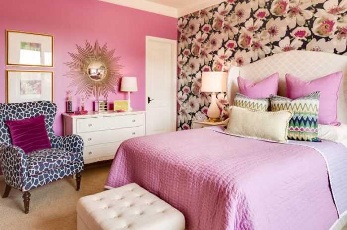 Комбинированные обои в спальне — описание видов, фото примеры в интерьере. Варианты сочетания с отделочными материалами