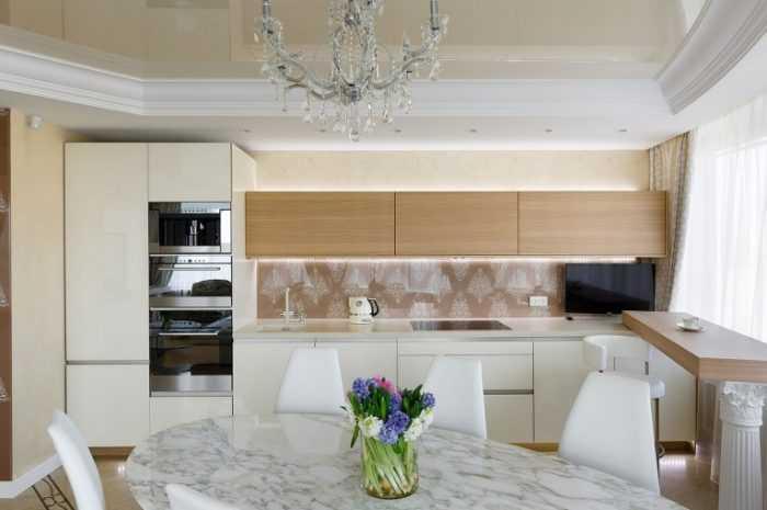 Кухня в светлых тонах — обзор интерьеров в стилях лофт, хай-тек, минимализм и скандинавском (фото + видео)