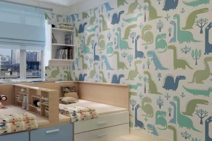 Как подобрать обои в детскую комнату: жидкие, пробковые, флизелиновые в разных стилях. Инструкции и рекомендации по выбору с видео обзором от дизайнера