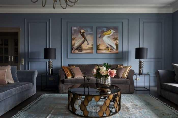 Современная классическая гостиная: фото новинки оформления пола, стен и потолка. Советы по декорированию и освещению комнат