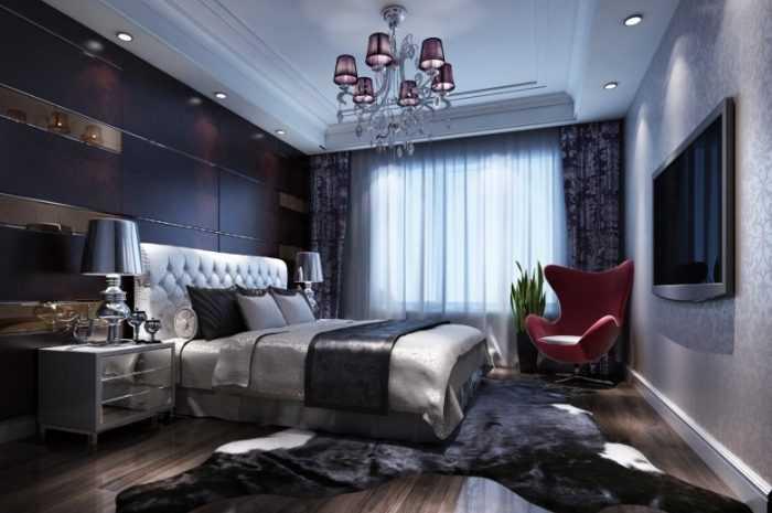 Современная спальня в квартире: сочетание обоев с шторами и мебелью для идеального интерьера. Фото/видео примеры размещения кроватей, тумбочек, светильников и растений