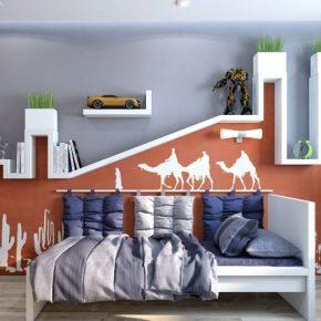 Стильная детская комната для мальчика: выбор цвета для потолка и стен, идеи расстановки мебели, видео обзор дизайнерских новинок
