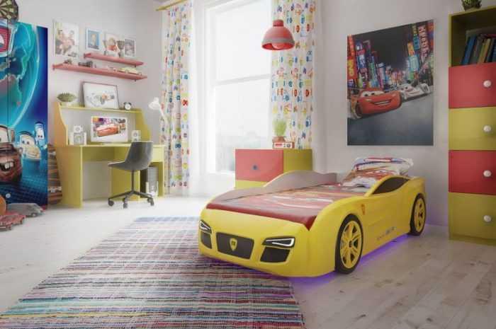 Детская кровать-машинка: подборка лучших идей для интерьера детской. Преимущества и недостатки, описание видов и моделей с фото/видео обзором