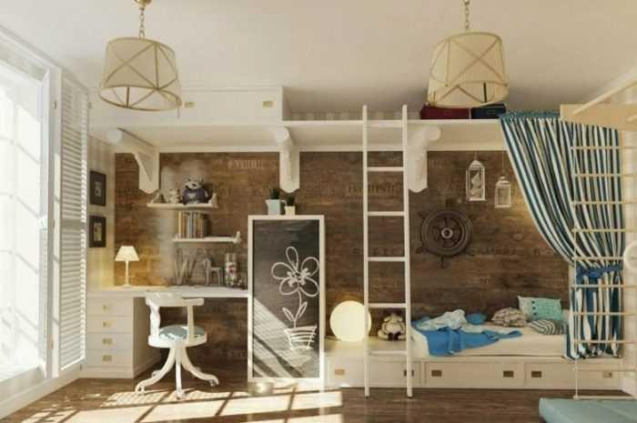 Детская в морском стиле: идеи применения стиля и советы по выбору украшений для детской комнаты (170 фото)