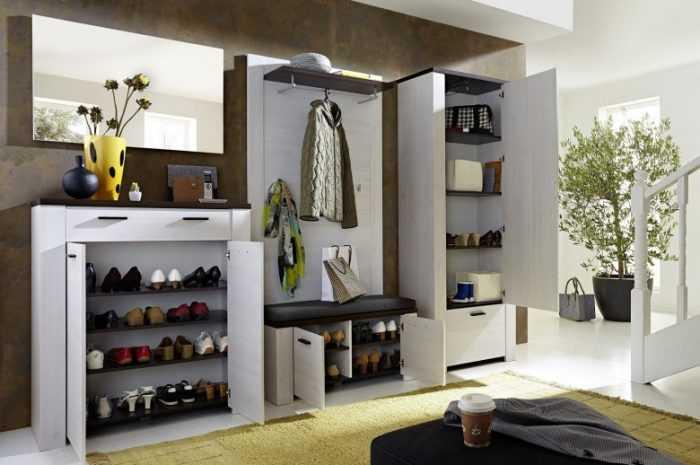 Обувница в прихожую: лучшие варианты использования стильного украшения дизайна (175 фото)