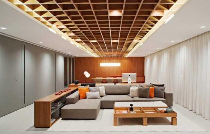 Потолок в гостиной: 175 фото и видео описание как сделать красивый и практичный потолок в гостиной