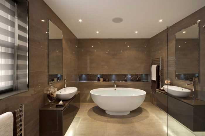 Потолок в ванной: примеры отделки потолка и варианты отделочных работ ванной комнаты (155 фото)